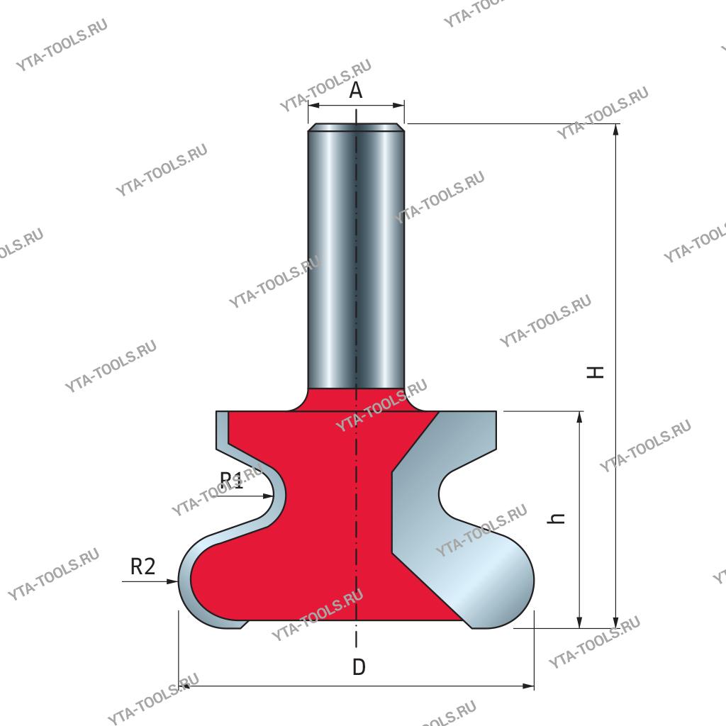 Фрезы твердосплавные для ручек, интегрированных в мебель